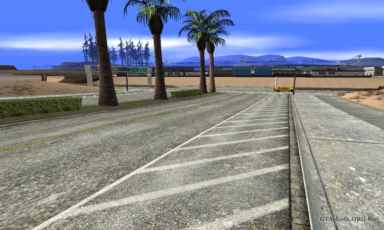 стандартные дороги для gta sa